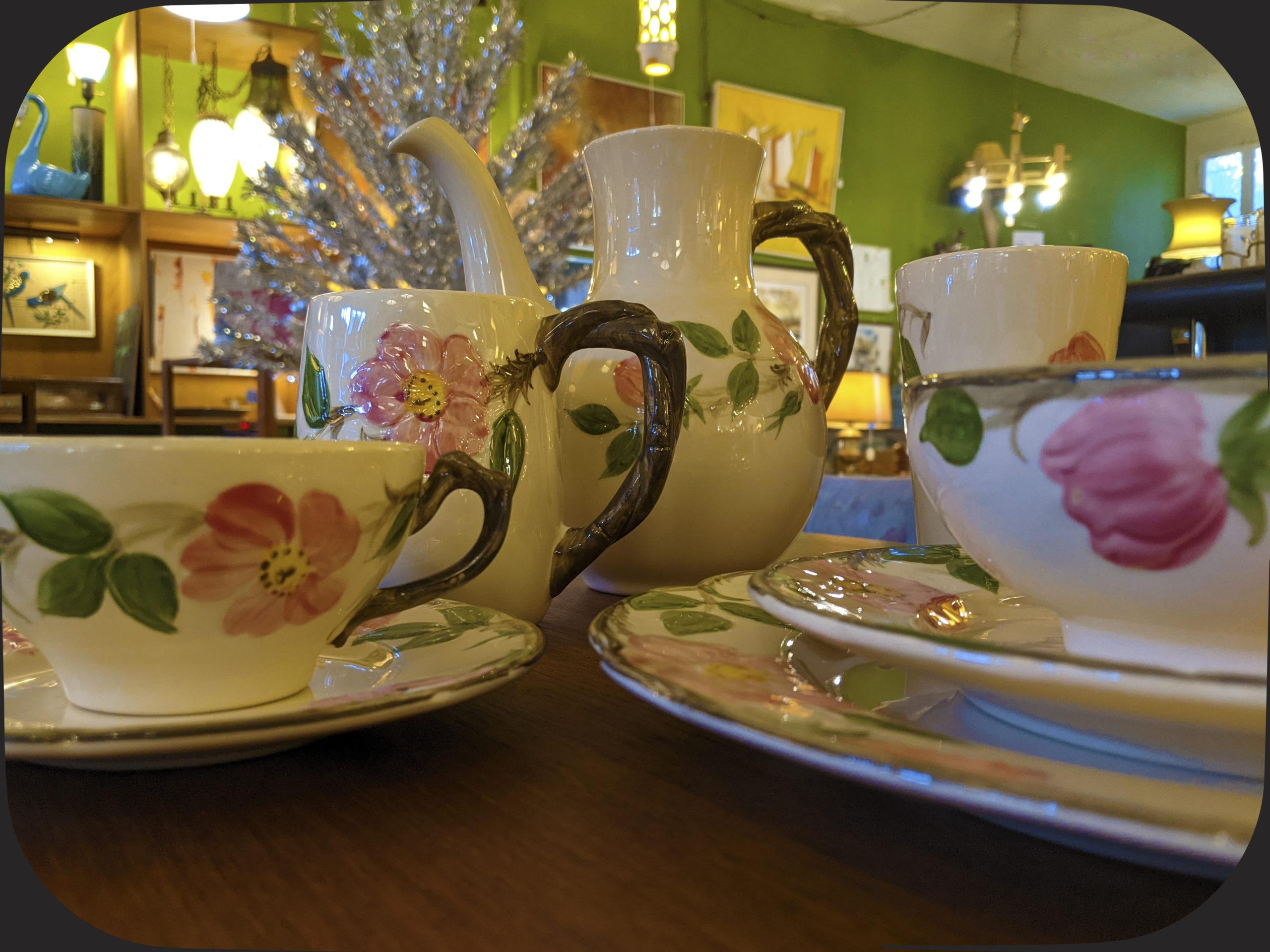 Depression era floral dinnerware